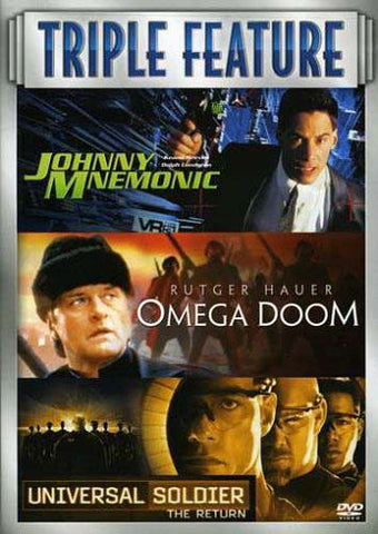 Johnny Mnemonic / Omega Doom / Universal Soldier - The Return (Triple Feature) (Boxset) DVD Movie