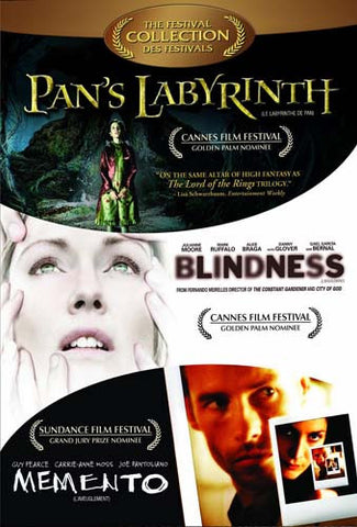 Pan's Labyrinth/Blindness/Memento (Triple Feature) (Boxset) DVD Movie