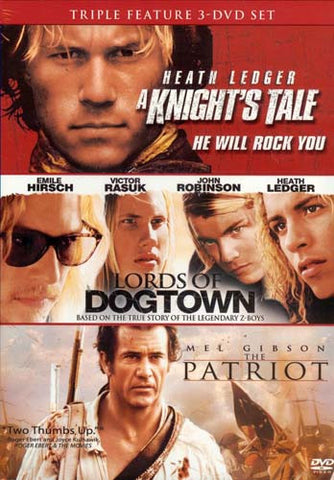 A Knight`s Tale / Lords Of Dogtown/ The Patriot (Triple Feature) (Boxset) DVD Movie