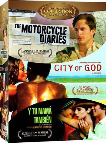 City Of God / Motorcycle Diaries / Y Tu Mama Tambien (The Festival Collection) (Boxset) DVD Movie