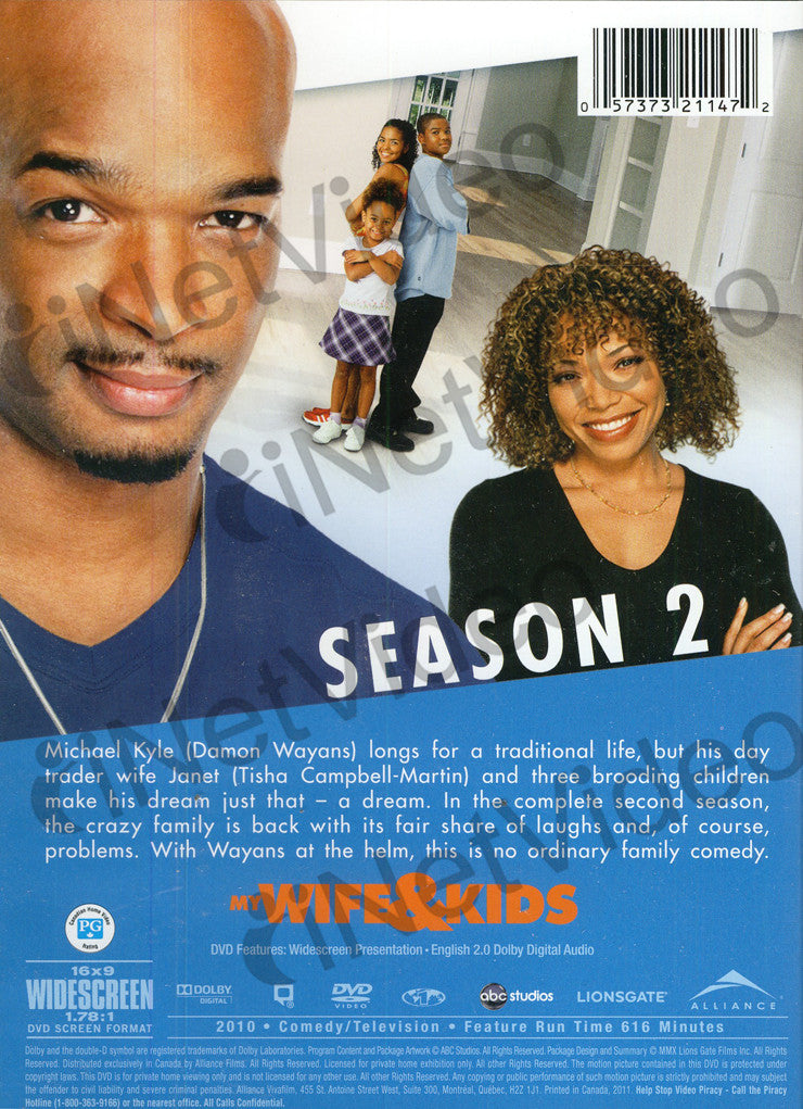 My Wife And Kids - Season Two 2 Boxset On Dvd Movie-9476