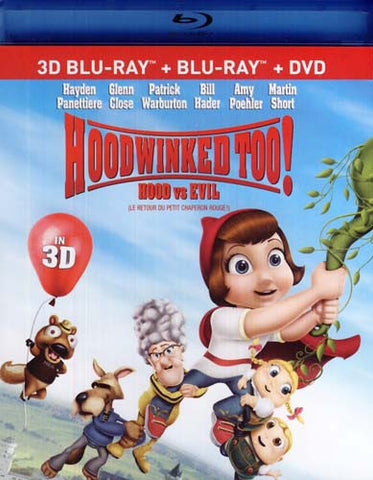 Hoodwinked Too! Hood vs. Evil (Blu-ray 3D/Blu-ray/DVD) (Blu-ray) BLU-RAY Movie