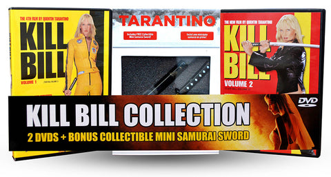 Kill Bill Volume One and Two (2 Pack) With Collectible Tarantino Samurai Sword (Plastic) DVD Movie