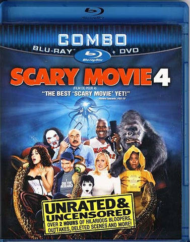 Scary Movie 4 (Unrated and Uncensored) (Blu-ray+DVD Combo) (Bilingual) (Blu-ray) BLU-RAY Movie