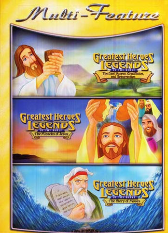Greatest Heroes Legends Of The Bible (Triple Feature) DVD Movie