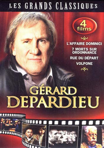 Gerard Depardieu - L'Affaire Dominici/7 Morts Sur Ordonnance/Rue Du Depart/Volpone (Boxset) DVD Movie