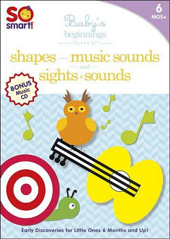 So Smart! Baby's Beginnings: Sights & Sounds/Shapes/Music Sounds/Bonus CD: Playtime (Boxset) DVD Movie