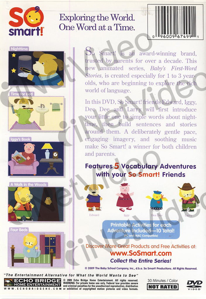 So Smart! Baby's First Word Stories - Nighttime on DVD Movie
