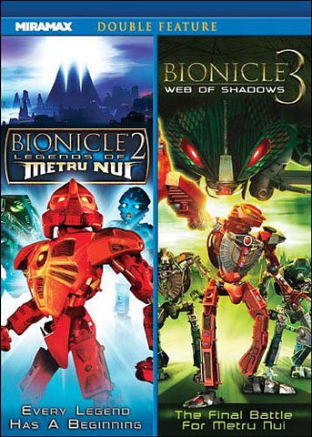 Bionicle 2 - Legends of Metru Nui / Bionicle 3 - Web of Shadows (Double Feature) DVD Movie