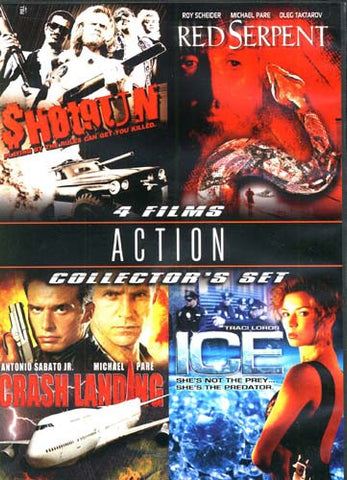 Action Collector's Set - Shot Gun/Red Serpent/Crash Landing/Ice (Boxset) DVD Movie