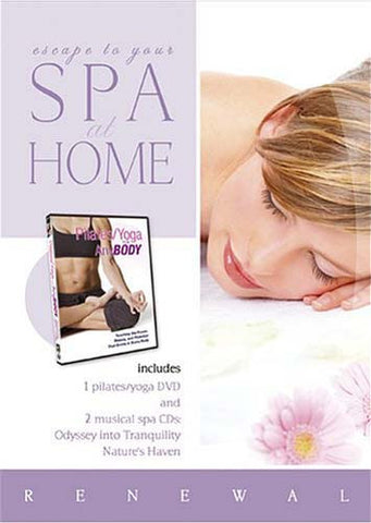 Spa at Home - Pilates/Yoga for AnyBody With 2 Music CDs-Odyssey Into Tranquility/Nature s Haven(Boxs DVD Movie