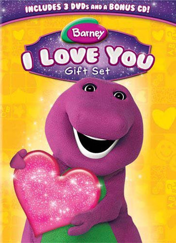 Barney - I Love You Gift Set (3 DVD+Music CD - Dino-Tunes) (Boxset) DVD Movie