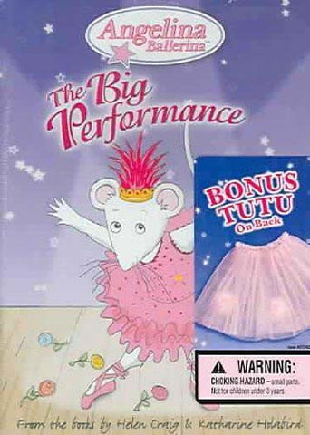 Angelina Ballerina - The Big Performance (With TUTU) DVD Movie