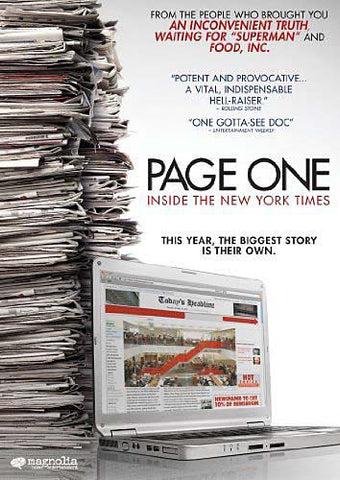 Page One - Inside The New York Times DVD Movie