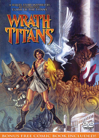 Wrath of the Titans DVD (With bonus comic book) DVD Movie