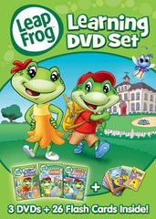 Leap Frog - Learning DVD Set(Let s Go to School/Letter Factory/Talking Words Factory) (Boxset)