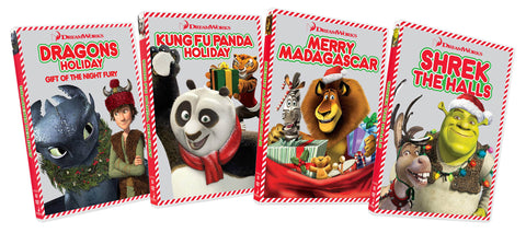 Dragons Holiday / Kung Fu Panda Holiday / Merry Madagascar / Shrek - The Hall (4-Pack) DVD Movie