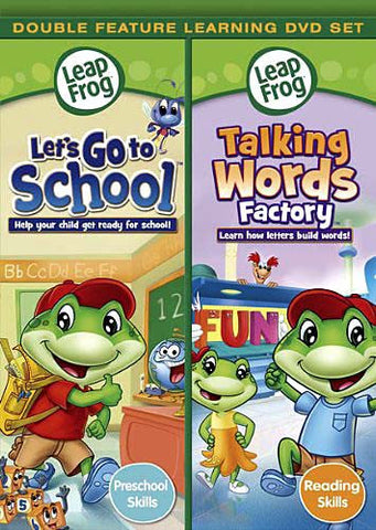 Leap Frog - Let's Go to School / Talking Words Factory DVD Movie