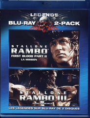 Rambo - Two Pack (First Blood II (2) / Rambo III (3)) (Bilingual) (Blu-ray)