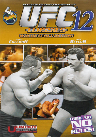 UFC - Ultimate Fighting Championship Classics - Vol. 12 DVD Movie