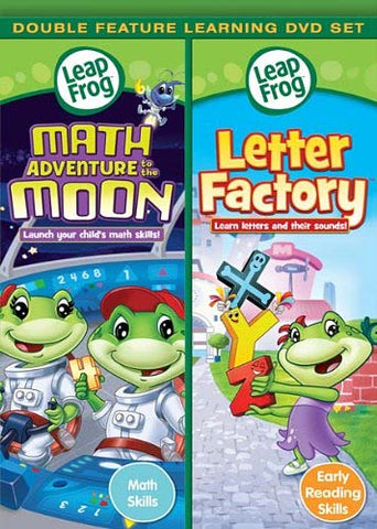 Leap Frog - Math Adventure to the Moon/Letter Factory (Double Feature) DVD Movie