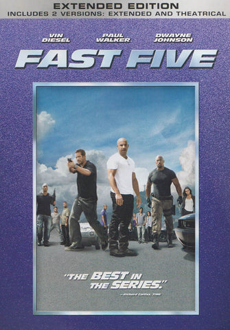Fast Five (Extended And Theatrical Versions) DVD Movie