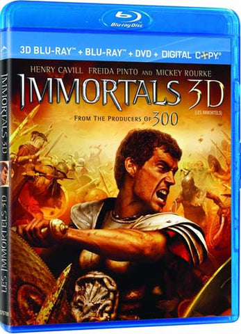 Immortals 3D (3D Blu-ray+2D Blu-ray+DVD+Digital Combo) (Bilingual) (Blu-ray) BLU-RAY Movie