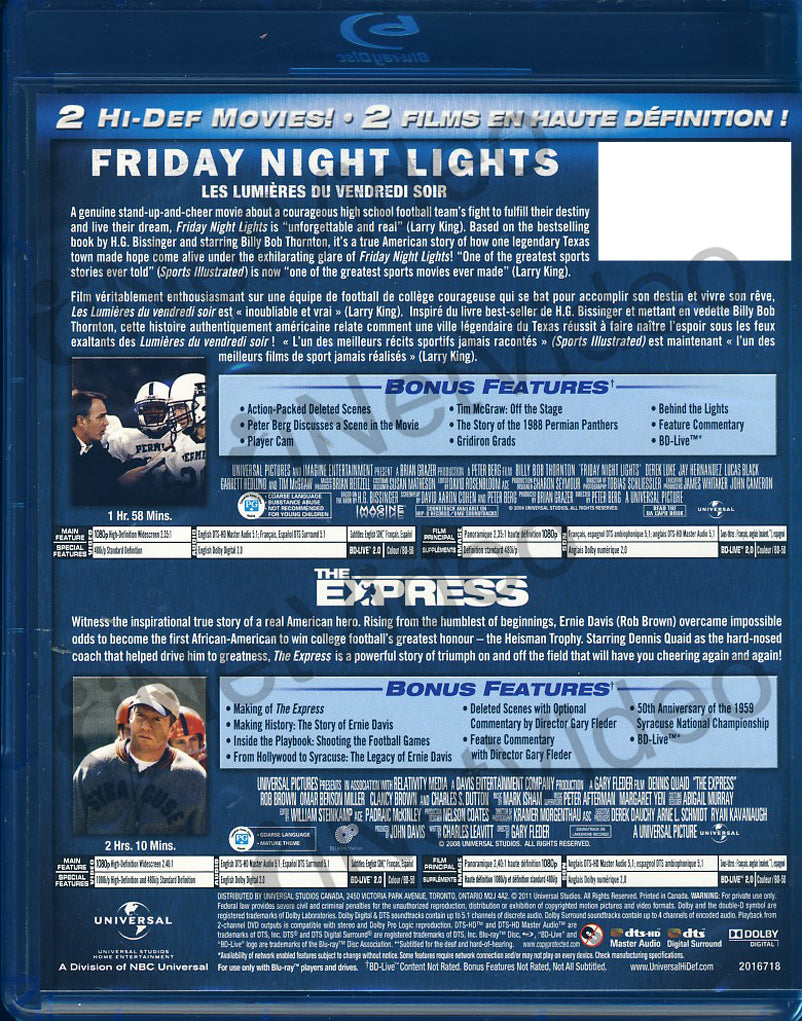 Friday Night Lights / The Express (Double Feature