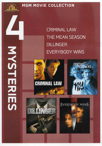 MGM 4 Mysteries - Criminal Law/The Mean Season /Dillinger/Everybody Wins DVD Movie