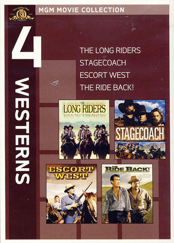MGM 4 Westerns - The Long Riders / Stagecoach / Escort West / The Ride Back DVD Movie