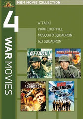 MGM 4 War Movies - Mosquito Squadron / 633 Squadron / Attack / Pork Chop Hill