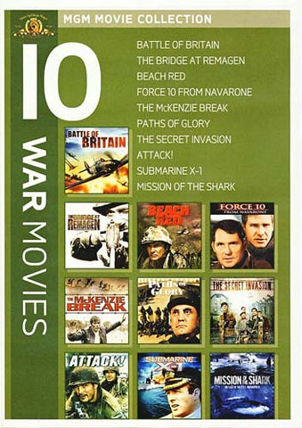 MGM 10 War Movies (The Battle of Britain............Mission of The Shark) (Boxset) DVD Movie