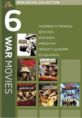 MGM 6 War Movies (The Bridge at Remagen....633 Squadron) (Boxset) DVD Movie
