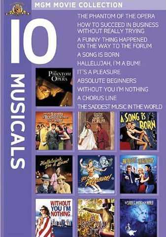 MGM 10 Musicals (Phantom of the Opera...........The Saddest Music In the World) (Boxset) DVD Movie