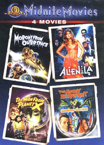 Midnight Movies - Morons From Outer Space/Alien From LA/The Man From Planet X/The Angry Red Planet DVD Movie