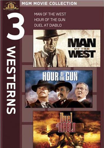 MGM 3 Westerns - Man of the West / Hour of the Gun / Duel at Diablo DVD Movie