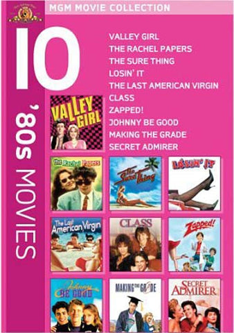 MGM 10  80s Movies (Valley Girl..............Secret Admirer) (Boxset) DVD Movie