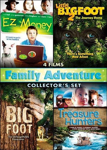 Family Adventure Collector s Set (EZ Money / Little Big Fooot 2 / Big Foot / The Treasure Hunters) DVD Movie