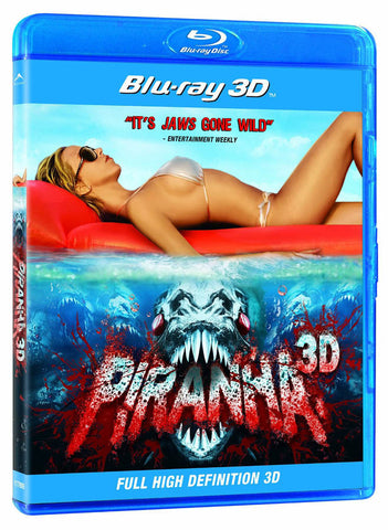 Piranha 3D (Blu-ray) (Full High Definition 3D Version) (Blue Cover) (Bilingual) BLU-RAY Movie
