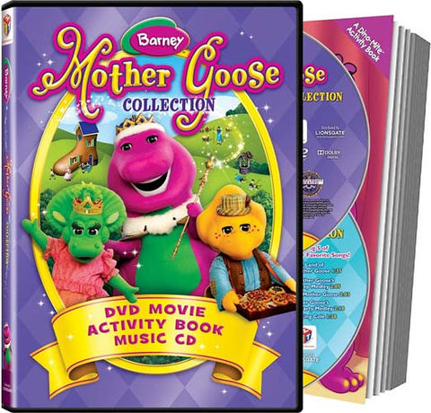 Barney - Mother Goose Collection (DVD Movie + Activity + Music CD) DVD Movie