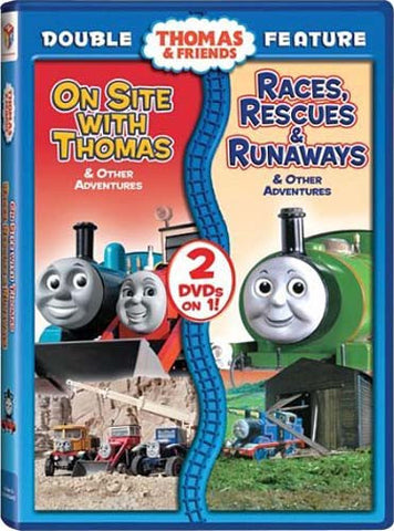 Thomas And Friends - On Site With Thomas / Races, Rescues And Runaways (Double Feature) DVD Movie