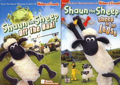 Shaun The Sheep - Off the Baa/Sheep On The Loose (2-Pack) (Boxset) DVD Movie