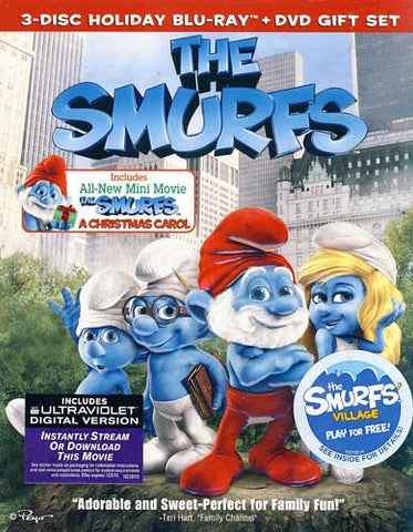 The Smurfs / The Smurfs - A Christmas Carol (Combo Blu-ray+DVD) (Blu-ray) (Slipcover) BLU-RAY Movie