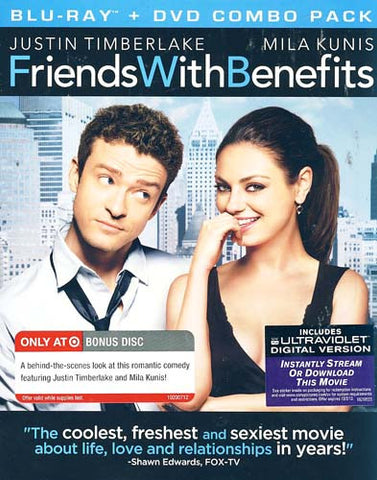 Friends with Benefits (Two-Disc Blu-ray/DVD Combo + UltraViolet Digital Copy) (Blu-ray) (slipcover) BLU-RAY Movie