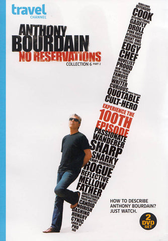 Anthony Bourdain: No Reservations, Collection Six (6) - Part Two (2) DVD Movie