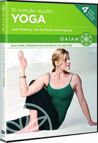 15-Minute Results Yoga with Rodney Yee/Mariel Hemingway DVD Movie