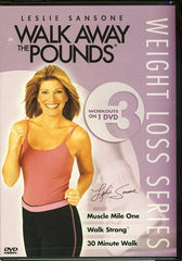 Leslie Sansone Walk Aways the Pounds 3 Workouts on 1 Dvd; Muscle Mile One/ Walk Strong/ 30 Min Walk