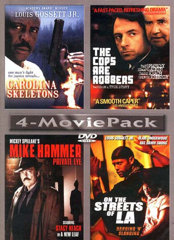 4 Movie Pack (Carolina Skeletons / The Cops are Robbers / Mike Hammer Private Eye / On the Streets o DVD Movie