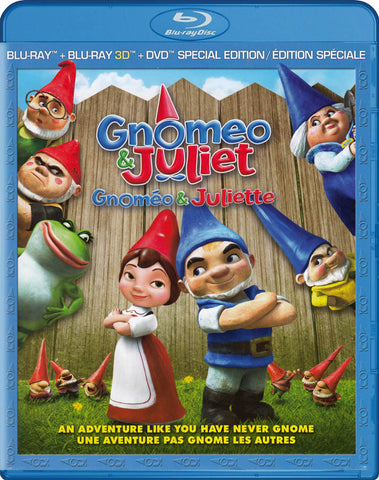 Gnomeo and Juliet (Blu-ray 3D + Blu-ray + DVD Special Edition) (Blu-ray) (Bilingual) BLU-RAY Movie