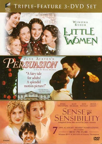 Little Women / Persuasion / Sense and Sensibility (Triple Feature) DVD Movie
